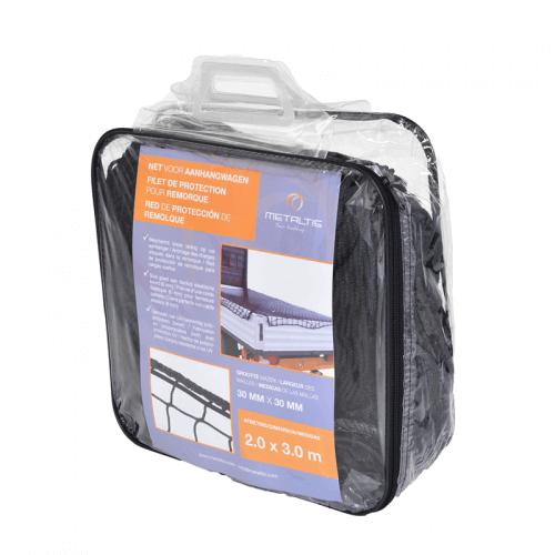 Red de protección de remolque con bolsita incluida