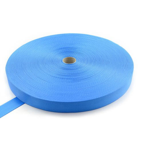 Polyester band 50 mm - 5000 kg - 100 m op rol - zonder strepen-Blauw
