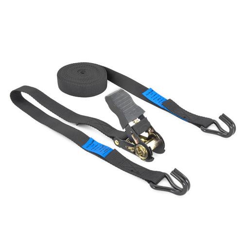 Cintas de amarre 2-piezas con tensores de trinquete negros y ganchos cerrados