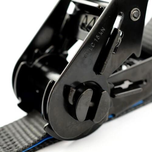 2-delige zwarte spanbanden met ratel 35 mm + gratis eigen label MB