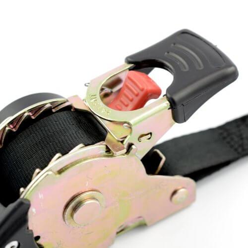 Spanband 25 mm met automatisch oprolmechanisme - S-haken MB