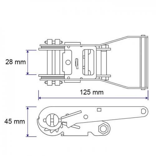 Metaltis ratel 1500 kg: afmetingen